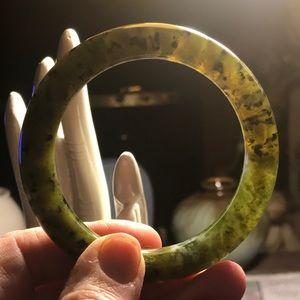 Vintage Nephrite Jade Bangle